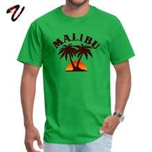 Prevailing Men T Shirt O Neck Marvel Sleeve Wolf Malibu California T shirt Tops & Tees Print Tee-Shirt Drop Shipping
