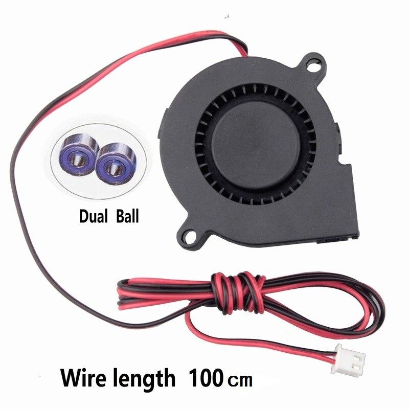 Gdstime 1 шт. двойной шариковый подшипник 12 В 24 В DC вентилятор охлаждения 3D вентилятор для принтера кулер 50 мм x 15 мм 5015 5 см 50x50x15 мм 1 метр провод