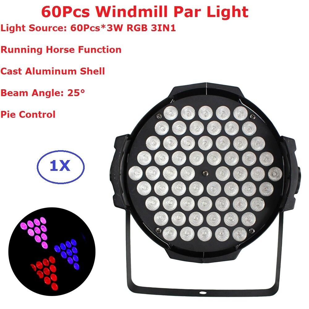 Светодиодный прожектор Par 60X3W RGB 3 в 1, сценическое освещение Can Par, прожекторы DMX, прожекторы для диджея, дискотеки, караоке, алюминиевый сплав