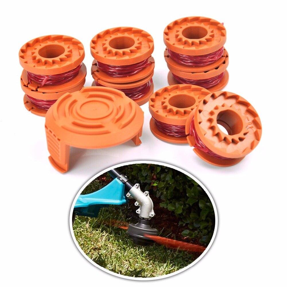 8 PCS Nylon Rasen Trimmer Linie Kabel Draht String mit 1 Abdeckung 1,65mm * 3m Gras Strimmer Linie für Worx Rasenmäher Gras Cutter