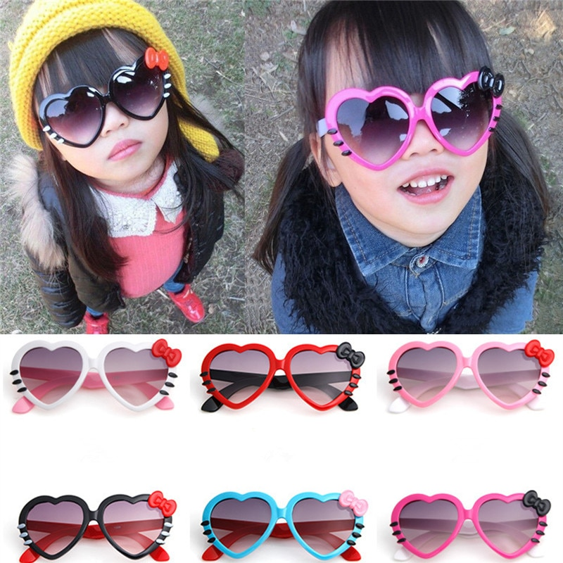 Fashion Kids Sunglasses Children Princess Cute Baby Hello- Glasses Wholesale High Quality Boys Gilrs