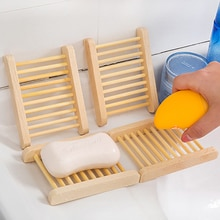 Porte-savon en bois naturel fait à la main   Boîte à savon, porte-savon, boîte conteneur cuisine, baignoire éponge, rangement des tasses porte-savon