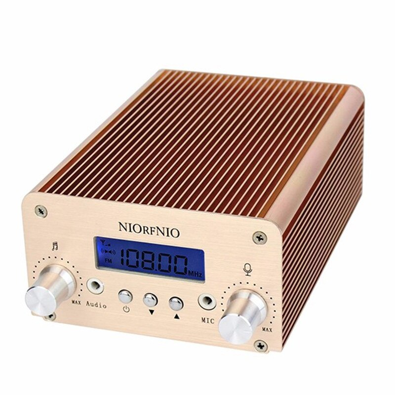 NIORFNIO NIO-T6B 1 W/6 W stéréo Mini transmetteur de Radio FM avec écran LCD