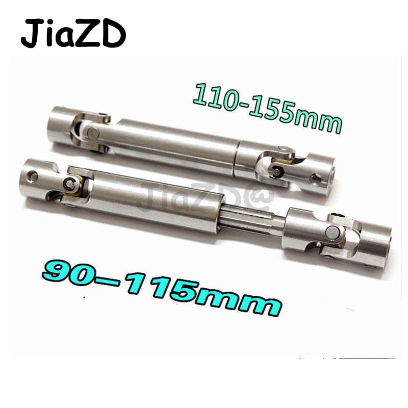 2pcs 90-115mm 110-155mm Steel CVD Universal Joint Drive Shaft Heavy Duty for 1/10 RC Rock Crawler Car RC4WD Axial SCX10 D90 ZXZ enlarge