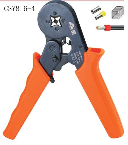 HSC8 6-4 0,25-6mm 23-10AWG 10S 0,25-10mm 23-7AWG crimp terminales de tubo herramientas de mano alicates de crimpado