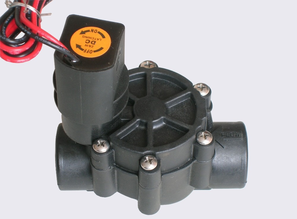 "irrigation system Z&W Valve - 3/4""   DC9v Threaded Inline Sprinkler Valve Irrigation System 075D"