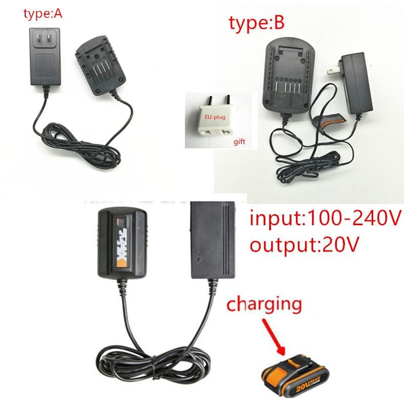 AC220-240V Ladegerät 20 V für WORX WA3742 WG155 WG160 WG255 WG545 WA3525 WA3520 WA3732 WA3760 WA3551 WA3553 Rockwell 20 V batterie