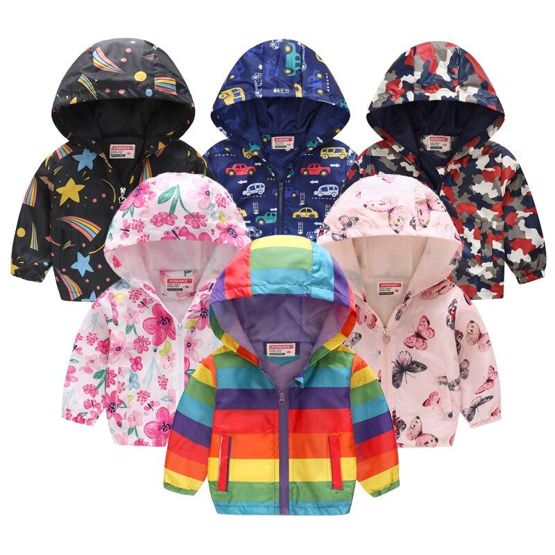Лидер продаж, Детская летняя тонкая куртка с принтом, Весенняя тонкая От 2 до 6 лет с капюшоном и длинными рукавами с героями мультфильмов, симпатичная рубашка на молнии для мальчиков и девочек, ветровка