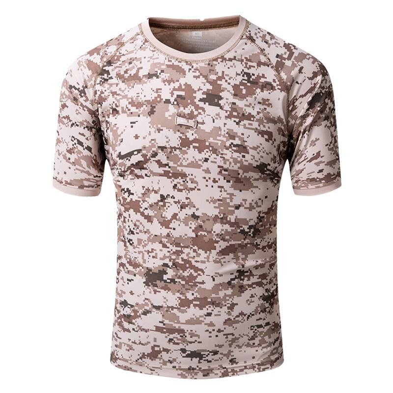 15 color men camo T-shirt quick dry Military tactics sports male women trekking climbing camping 1 pocket Short Sleeve T Shirts