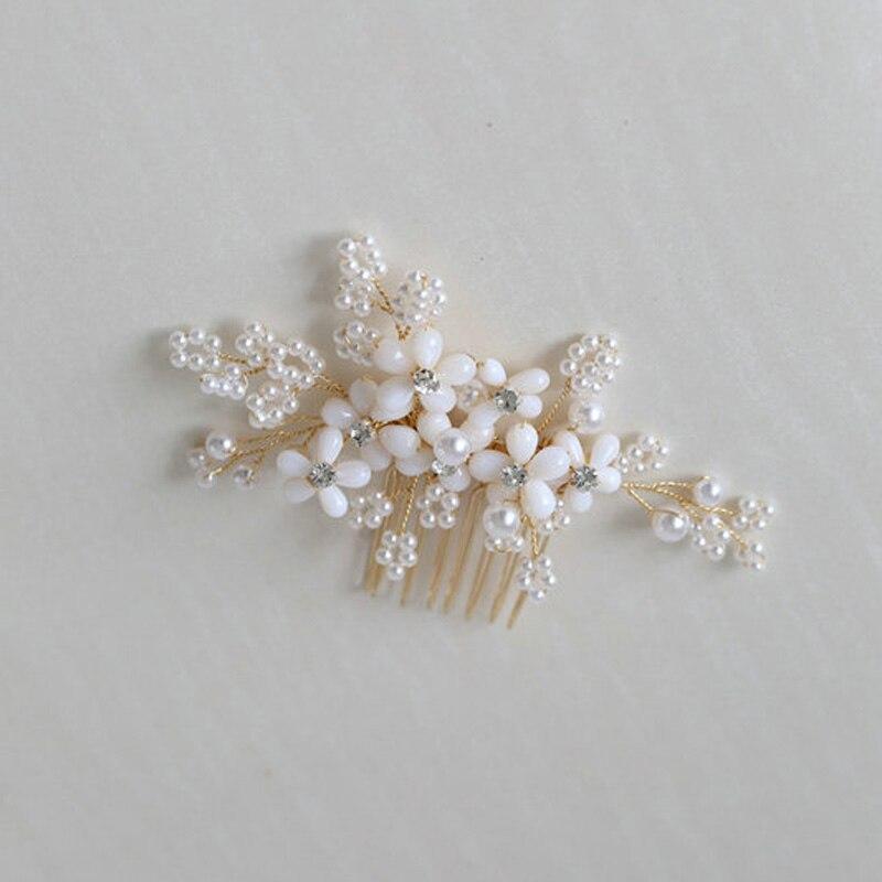 Peine para el pelo de perlas para novia, accesorios para el cabello...