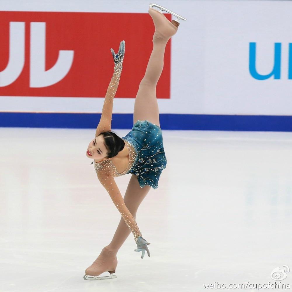 فستان إيقاعي لمسابقات الأطفال والنساء, للتزلج على الجليد والجمباز 141
