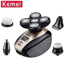 Электрическая бритва Kemei KM-1000 5 в 1 для мужчин, плавающая головка с пятью лезвиями, электрическая бритва, инструменты для ухода за лицом