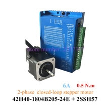 Nema 17 폐 루프 고속 42 스테퍼 모터 0.5n.m 하이브리드 인코더 + 드라이버 2hss57 정격 속도 1000 rpm 42h40-1804b205-24e