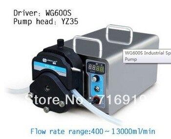 WG600S YZ35 PPS cabeça Da Bomba Peristáltica Bomba Peristáltica Laboratório Industrial Elétrica Fazendo Água Fluido Líquido Bombas 400 ~ 13000 ml/min