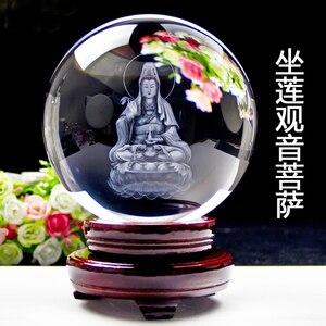 TOP GOOD  2 pieces Talisman-Guanyin Buddha Money Drawing Martial god of wealth guan gong FENG SHUI Figurine 3D Crystal statue
