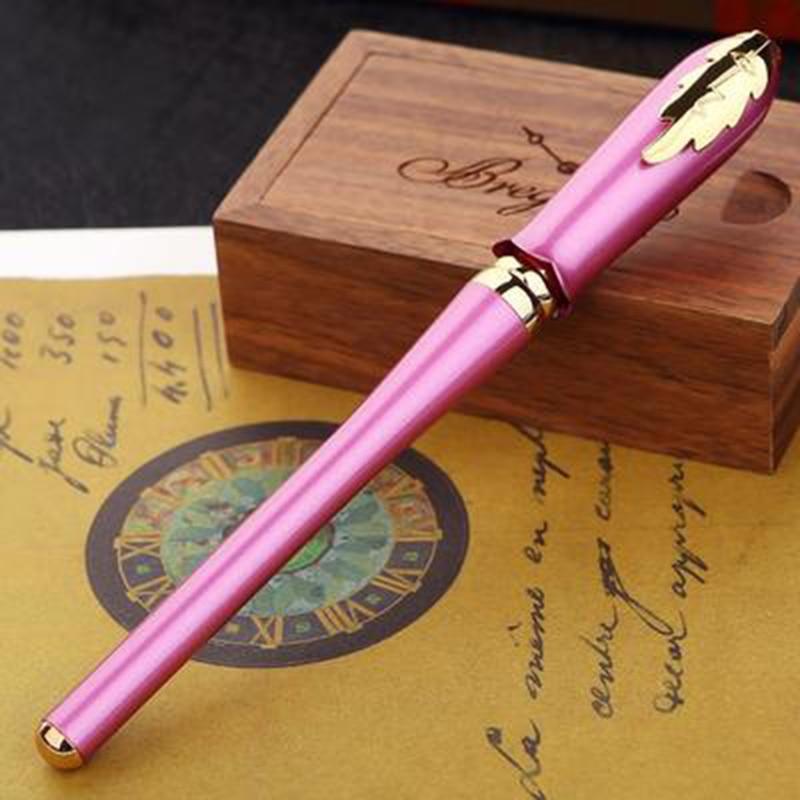 Picasso 986 Greek Irene Pimio Rollerball Pen Female Gift Purple Bud Cap Leaf Clip Office Signature Homework Exam Writing