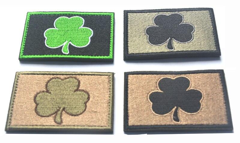 Parche de moral militar de Irlanda, trébol irlandés, Mutlitan, Parche táctico, ejército, parches 3D