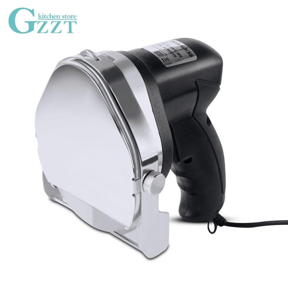 GZZT licuadora eléctrica comercial cortadora de brochetas Doner cortador de carne cortadoras de peladoras 80W 110V-240V