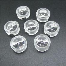 13mm 1 w 3 w Mini LED Lens 15 30 45 60 90 100 Graden voor IR CCTV LED PCB Bolle Acryl Lens Met Houder Reflector Collimator