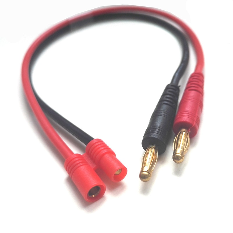 Cable de carga de 300mm HXT 3,5mm a 4,0mm Bullet compatible con cargador B6 Walkera batería