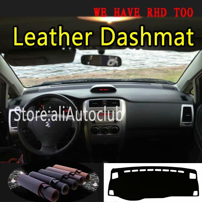 Para Suzuki Liana Aerio Dashmat Styling Covers Tampa Do Dashboard Mat Tapete Do Carro de Couro Acessórios
