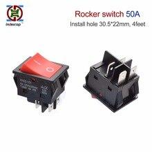 Grand courant haute puissance 50A   Interrupteur à bascule, spécial pour machine à souder, 4 pieds, 31*22mm, pas led 5 pièces