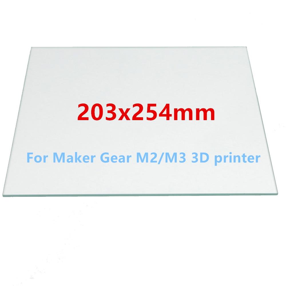 203 x 254mm  Borosilicate Glass Bed For DIY MakerGear M2/M3 3D Printer  8x10