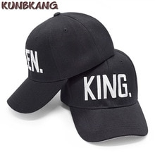 New Fashion KING QUEEN Hip Hop Baseball Cap Snapback Hats Couple Lovers Dad Bone Black Men Women Embroidery Letter Baseball Hat