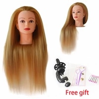 24 long golden hair mannequins for sale maniken head with hair female cabeza maniqui hairdressing head with free table holder