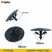 Plastics clips Nylon Hood Insulation Retainer For Honda Civic CR-V FIT Accord Odyssey Acura RL RSX Insulation cotton clip