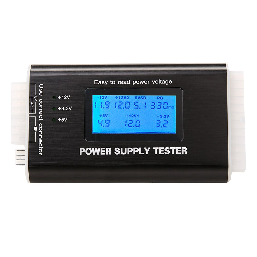 Цифровой ЖК-компьютер ПК блок питания тестер проверки 20/24 pin SATA HDD ATX BTX метр высокое качество