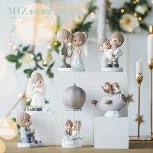 Miz-décoration de mariage avec personnage de dessin animé   Décoration de mariage en Couple, décoration de gâteau pour la mariée et le marié, accessoires de décoration pour la maison