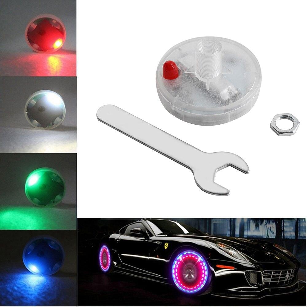 15 modos de energía Solar LED COCHE Auto Flash rueda neumático válvula tapa neón DRL Luz de circulación diurna lámpara coche estilo