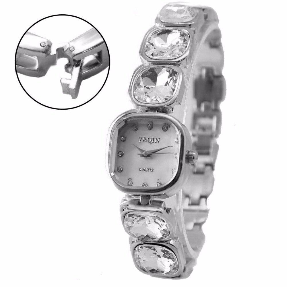 Luxury Brand Women Fashion Analog Quartz Wrist Watch Japan PC21J Movement Shiny Silver Metal Band White Dial enlarge