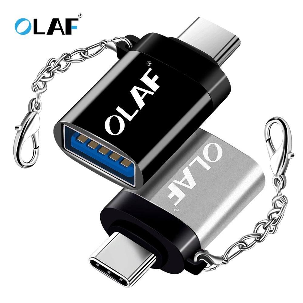 OLAF-Adaptador OTG Tipo C/USB OTG, Adaptador USB Tipo C para Xiaomi, Huawei,...