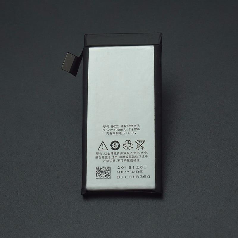 Batería Meizu MX2 B022, batería li-on de alta calidad, reemplazo de batería de respaldo de 1900mAh para teléfono inteligente Meizu MX2