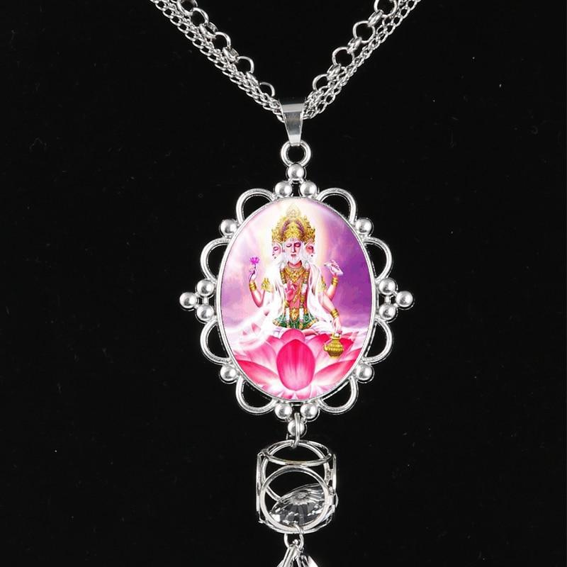 Collar de la borla de la India del Señor de la joyería de Shiva dios Brahma Vishnu colgante colgantes de cristal collar de Buda para mujer