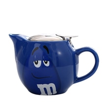550ml Ceramic Tea pot Chinese Cartoon M Chocolate Beans Porcelain Teapot Drinkware KungFu Tools Tea Pot Set Tea Ceremony Gift
