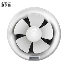 Ronde bad keuken lampblack glas muur pijp type ventilator badkamer 6 inch 8 inchITAS9918AA