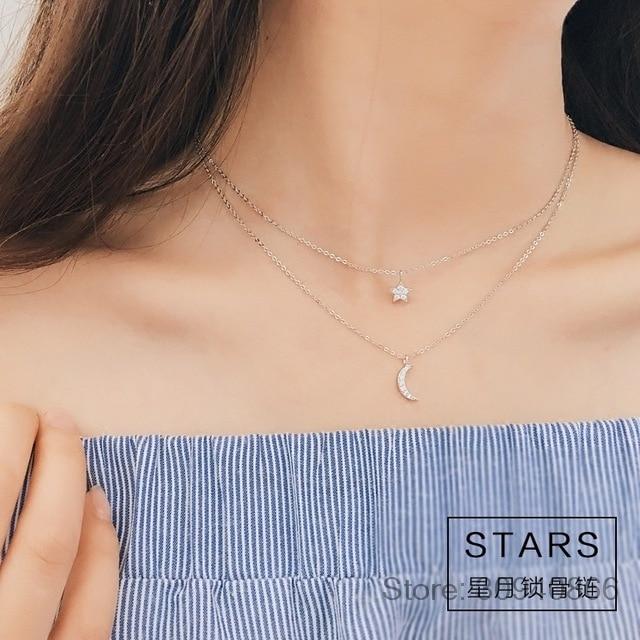 Женское Ожерелье с кулоном, из стерлингового серебра 925 пробы