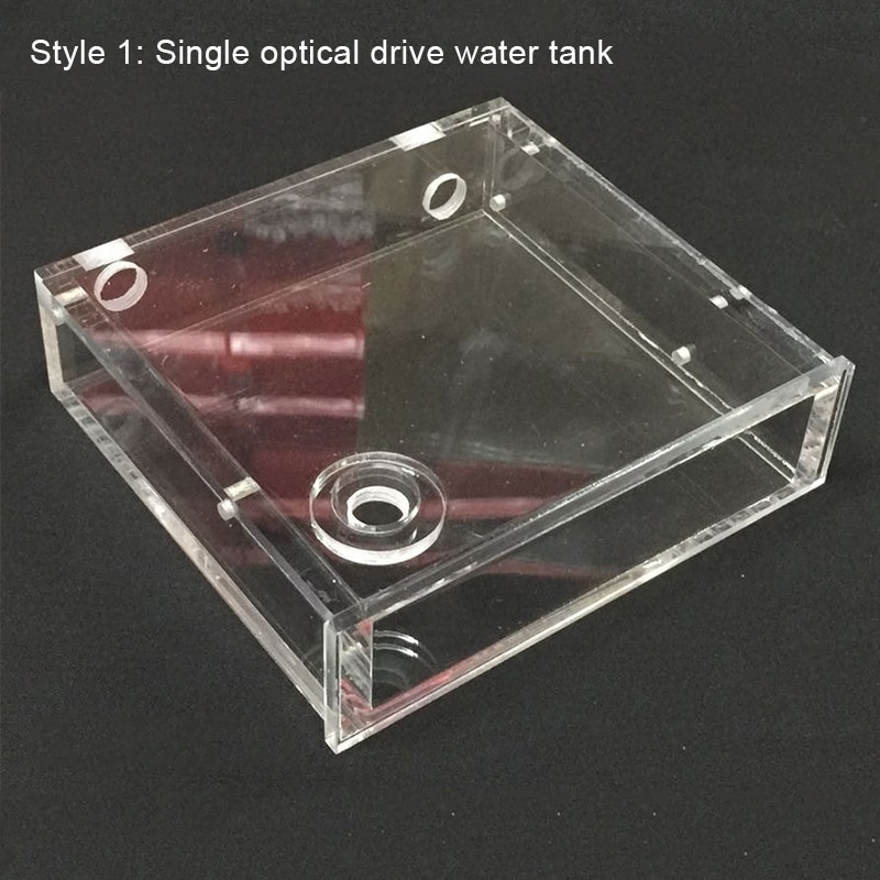Transparent Acrylic Computer Water Cooler Water Tank Radiator Water Block Temperature Wheel CD ROM Single Drive Water Tank