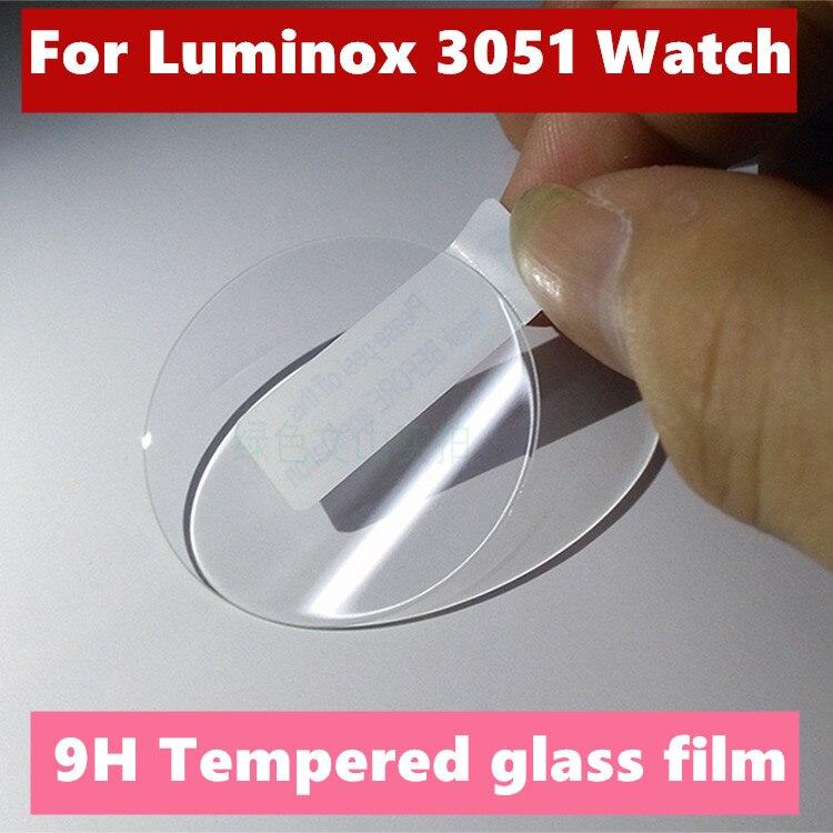 5 unids/lote 9H protector de pantalla de vidrio templado película protectora de la piel para Luminox 3051 película protectora de teléfono protector de pantalla