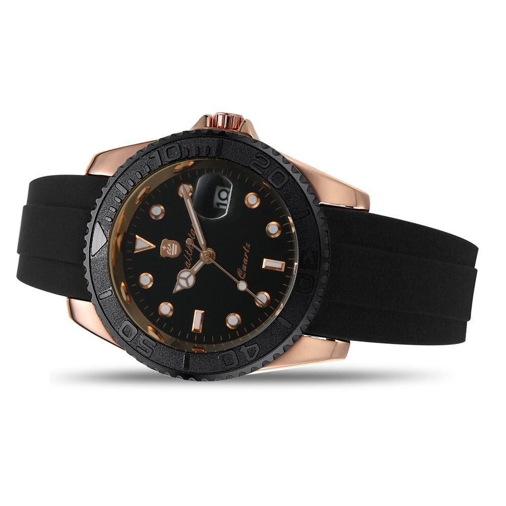 men watch Wealthstar brand GMT  men roles auto date quartz  master sports watches case 40mm just for men women relogio