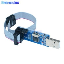 1 ensemble USBASP USBISP AVR programmeur 3.3 V/5 V USB ATMEGA8 ATMEGA128 ASP fai atminuscule/CAN/PWM + 10Pin Support de fil Win7 64Bit