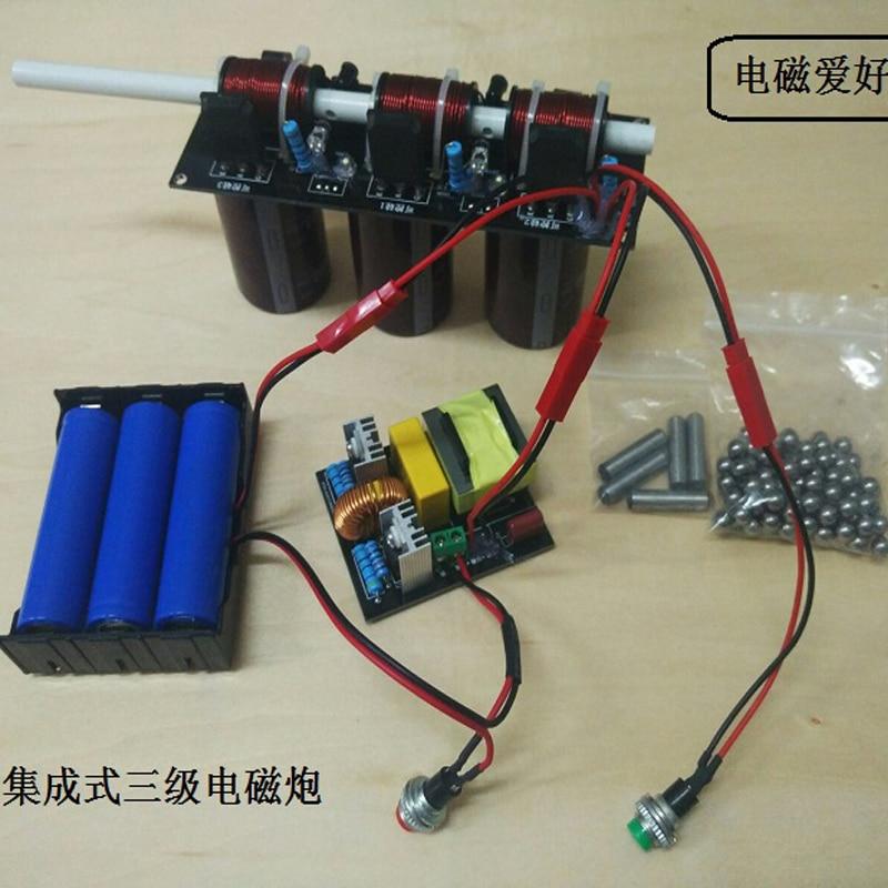 عشرة مستوى الكهرومغناطيسي بندقية diy كيت/المنتج النهائي ، محلية الصنع الكهرومغناطيسي لفائف التسارع بندقية