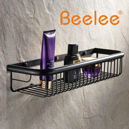 Beelee-سلة دش نحاسية مثبتة على الحائط مع حامل حائط وعلبة تخزين ، حامل دش مطلي بالزيت مع لمسة نهائية برونزية