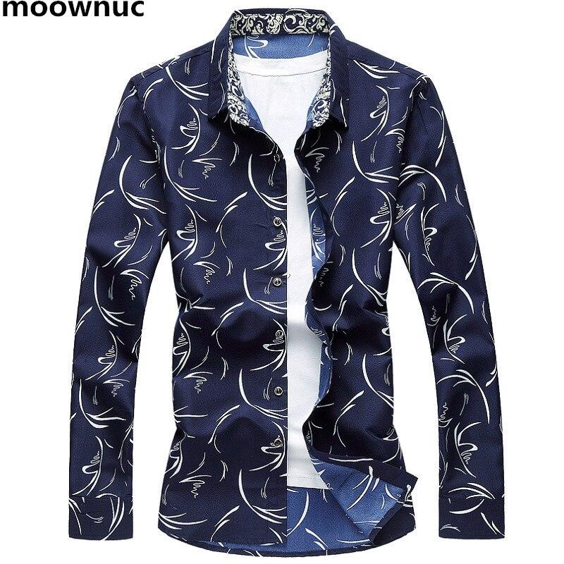 New Fashion Men's Shirts Men full Sleeve Shirt Masculino Casual 3 colors 100% Cotton autumn skinny Shirts full Size M-7XL 2018