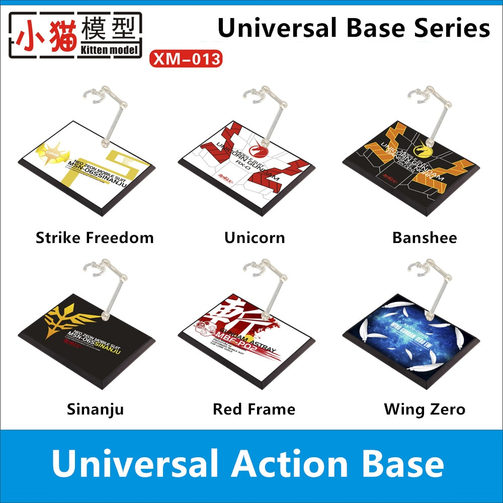 Base Universal para Bandai RG HG 1/144 ala cero Sinanju unicornio huelga la libertad marco rojo Banshee Gundam DX006 *
