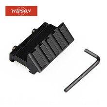 WIPSON Taktische 4 Slot Eine Seite 45 Grad Winkel Offset 20mm Schiene Montieren Für Weaver Picatinny Schiene Caza Jagd zubehör