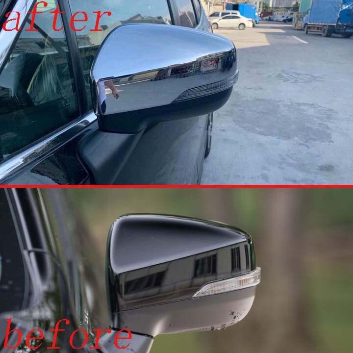 Para Subaru Forester SK 2019 Decorar Acessórios ABS Chrome Door Side Mirror Cover Guarnição Traseira Cap Overlay Molding Decora